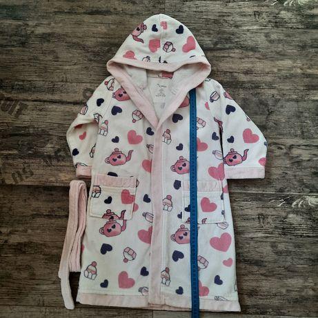 Махровый халат CHICCO для девочки