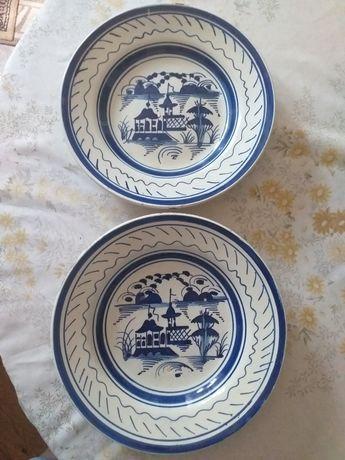 2 pratos Faiança Miragaia