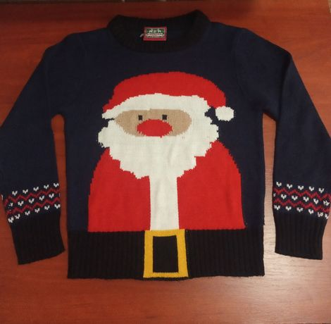 Новогодний свитер, свитер дед мороз