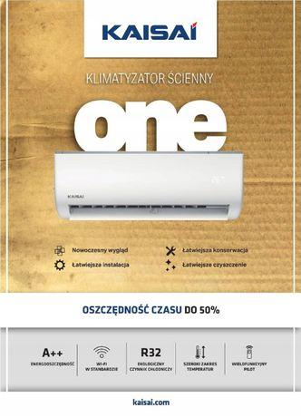Klimatyzator split Kaisai One 3,5 kW z WiFi. MOŻLIWY MONTAŻ