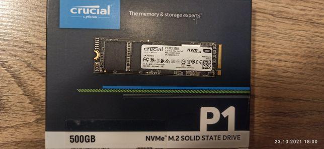 Ssd CRUCIAL  500ГБ M.2  PCIe NVMe Gen 3