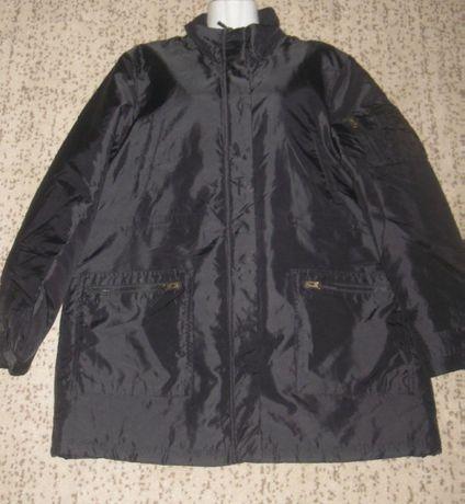 Куртка мужская деми, чёрная. 56 р-р. Отличная. ПОГ – 58 см
