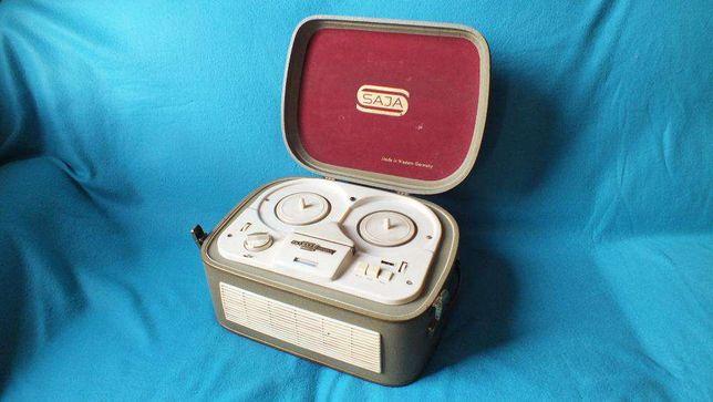 Zabytkowy magnetofon szpulowy ~~ SAJA M46 ~~ Piękny UNIKAT!!