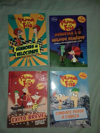 4 Livros Phineas e Ferb Disney