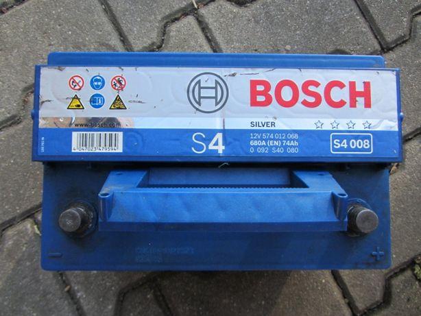 Akumulator Bosch S4 74Ah 680A P+ 12V
