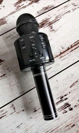 Mikrofon Bezprzewodowy Karaoke Głośnik Bluetooth Czarny