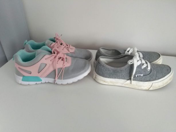 Sportowe buciki leciutkie rozmiarze r. 33 oraz trampki