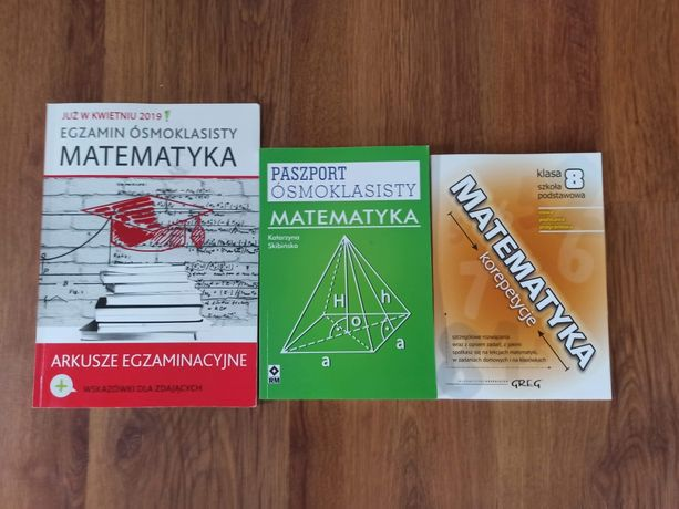 Repetytoria, arkusze, korepetycje do egzaminu 8-klasisty z matematyki.