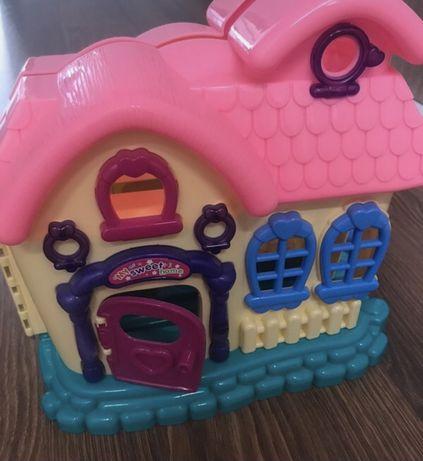 Dziewczecy domek z meblami