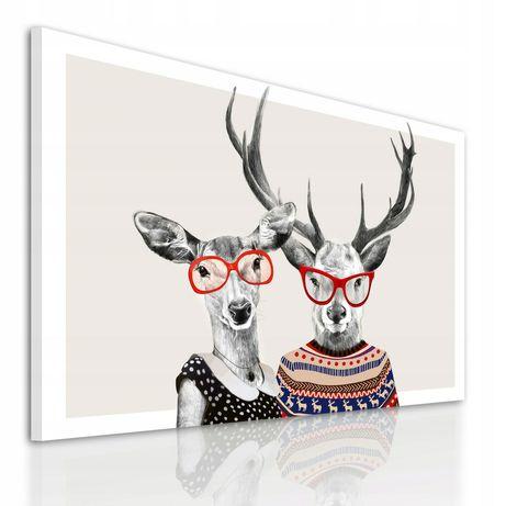 Obraz małżeństwo jelenie 70x100