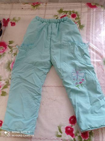 Теплі штани на дівчинку 2-3 років
