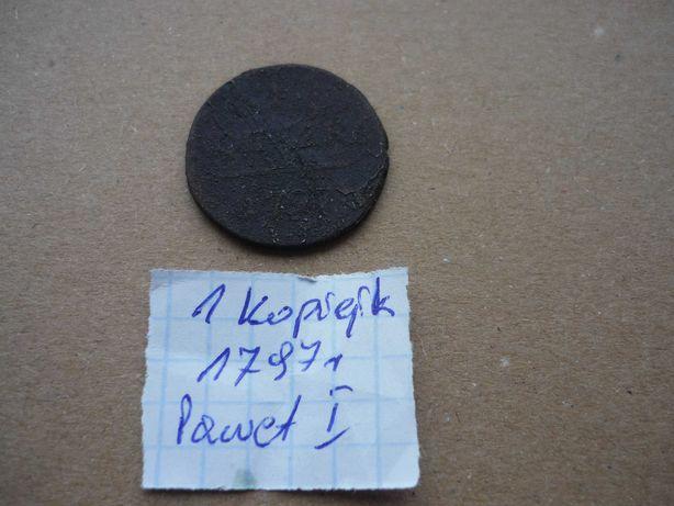Moneta  1 kopiejka 1797 r. Paweł I Rosja