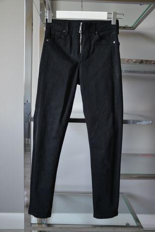 Czarne spodnie jeansy z ozdobnym tyłem TopShop
