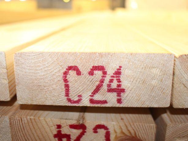 Drewno konstrukcyjne na dom szkieletowy o wym. 45x145mm C-24. Śląsk.