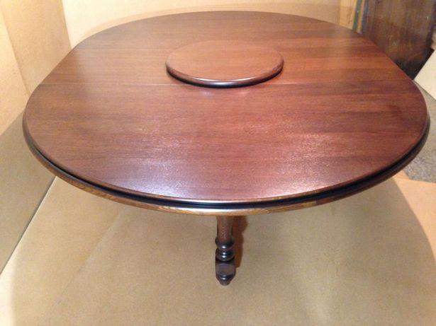 стіл круглий дубовий