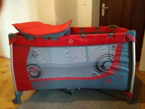 Łóżeczko dwupoziomowe turystyczne z przewijakiem Moderno 4 Baby