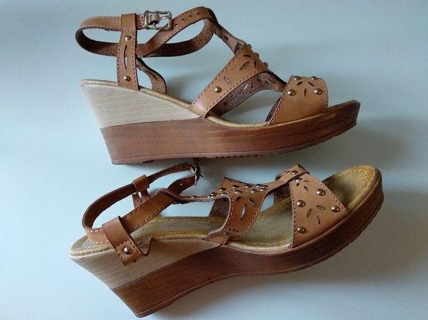 Brązowe sandały damskie rozmiar 38