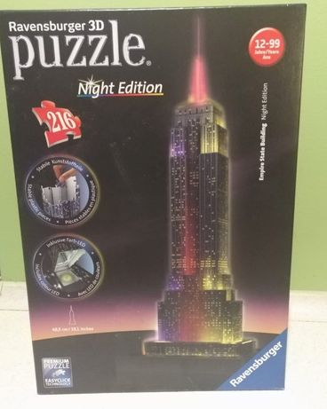 Puzzle 3d - podświetlane.