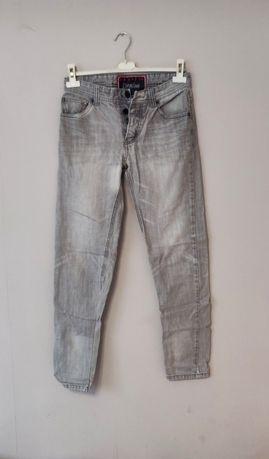 Spodnie jeansy szare damskie