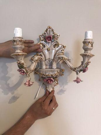 Kinkiet ceramiczny włoski Nowy