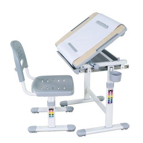 Zestaw Biurko regulowane + Krzesełko dla dziecka Bambino Grey FUNDESK