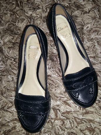 Кожаные туфли - лоферы Clarks, шкіряні туфлі Кларкс