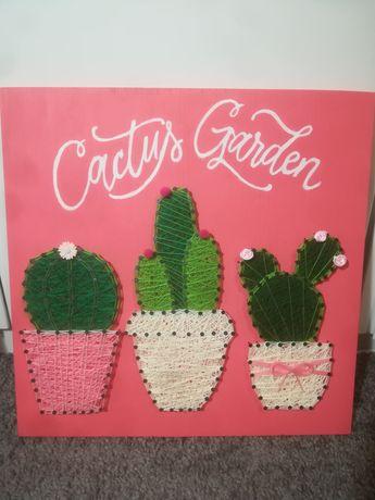 'Cactus Garden' string art