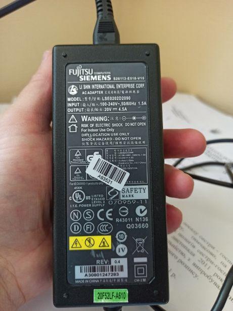 Fujitsu БлокПитания подойдетТoshiba Asus штекер 5.5*2.5 (90w) 20V-4.5A