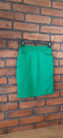 Zielona bawełniana spódnica ołówkowa rozmS/M
