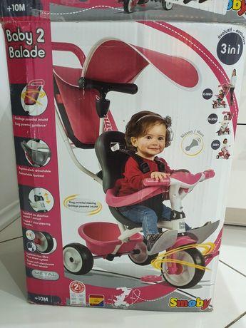 SMOBY NOWY Rowerek Baby Balade Różowy