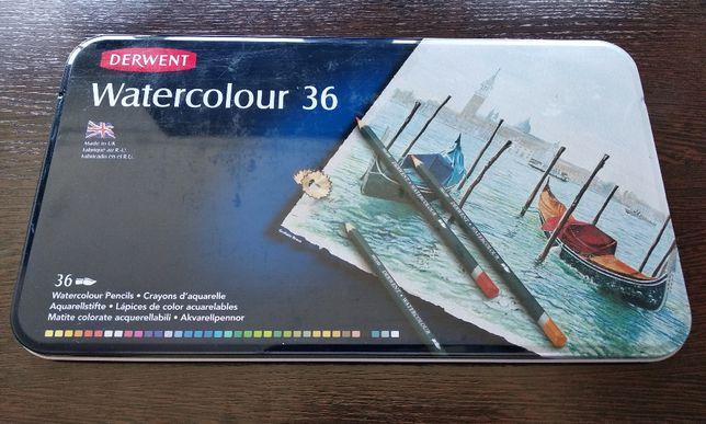 Цветные карандаши Derwent Watercolour, 36 цветов