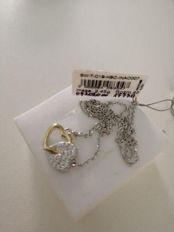 Naszyjnik srebrny z cyrkoniami Verona