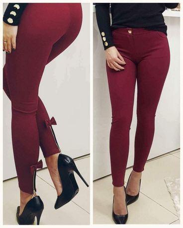 Spodnie z kokardkami bordo rozmiar L