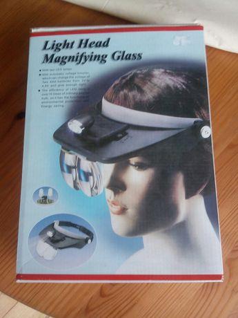 Okulary nagłowowe z lampami