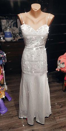 Свадебное платье с паетками, рыбка