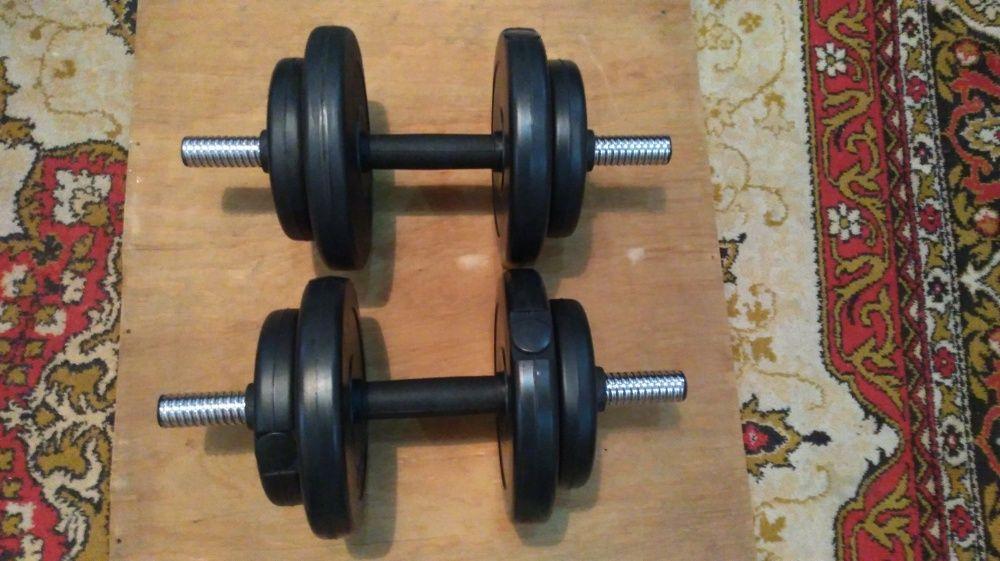 Разборные гантели 8.5 кг, наборные гантели Днепр - изображение 1