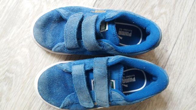 Кроссовки Puma синие замшевые
