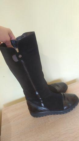 Жіночі зимові чоботи.Женские зимние сапоги. Чоботи замша .шкіра