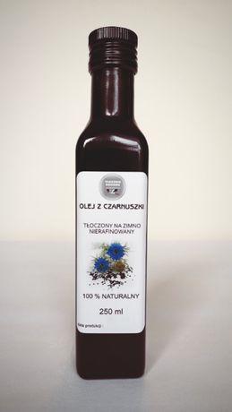 Olej z czarnuszki tłoczony na zimno nierafinowany