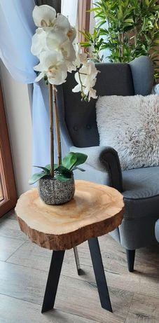 Stolik kawowy drewno plaster orzech