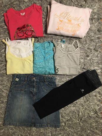 Zestaw ubran 122-128 bluza bluzki