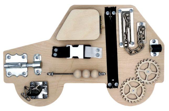 Tablica manipulacyjna Autko Montessori | Na prezent | DARMOWA wysyłka