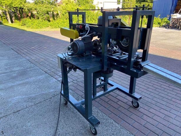 Maszyna przelotowa- matowanie szlifowanie profili stalowych 4 szczotki