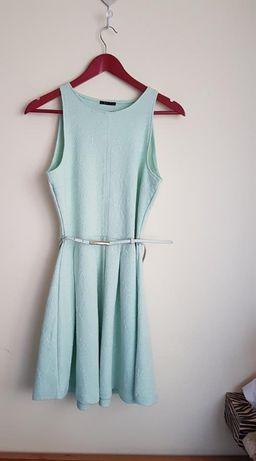 Sukienka Mohito 38 M błękitna miętowa niebieska pasek
