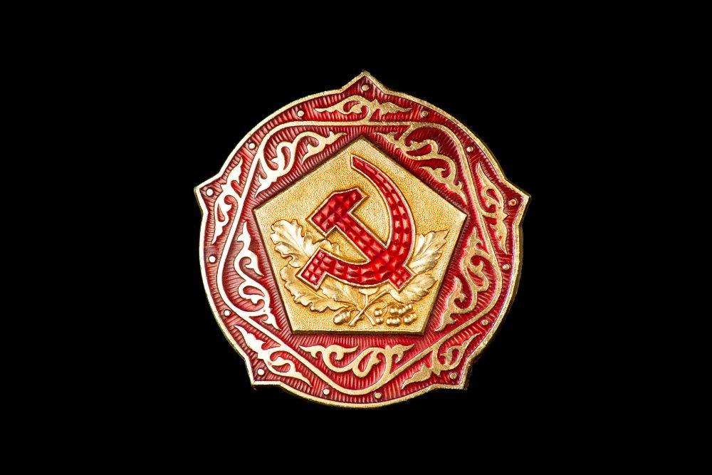 Значки с гербом СССР. 1980-е. 10 штук. Киев - изображение 1