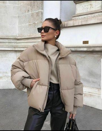 Zara пуффер куртка
