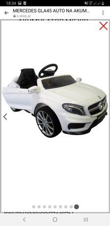 Mercedes gla45 auto na akumulator miękkie fotelik