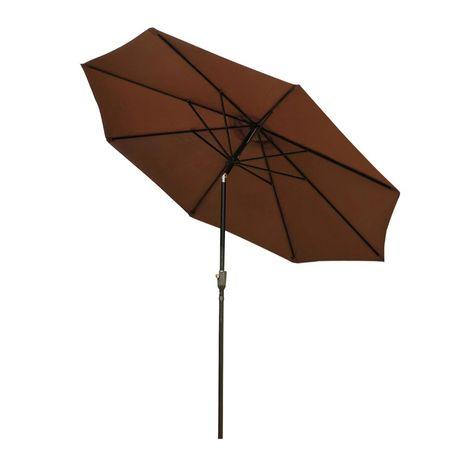 Parasol ogrodowy przeciwsłoneczny zginany z korbką  ręczną