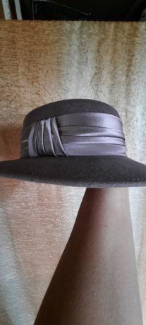 Fioletowy kapelusz rozm 55