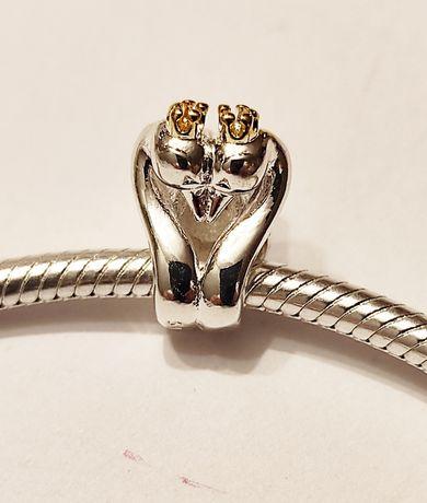 Srebrny charms zawieszka do bransoletki typu Pandora